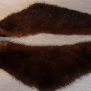 Genuine mink fur coat collar shawl scarf
